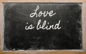 Proverbe L'amour est aveugle