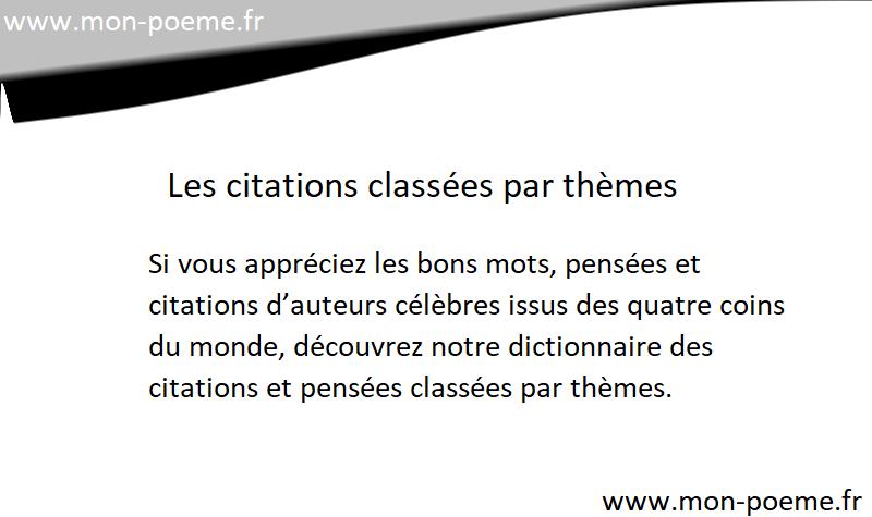 Super Citations thèmes : 56696 citations classées par thèmes MM38