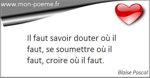 Citations Blaise Pascal Ses 58 Citations