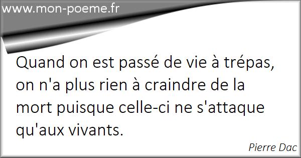 Bevorzugt La vie / La mort - 55 citations sur la vie et la mort WS83