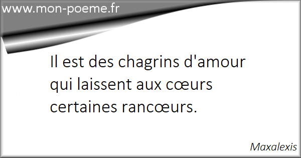 Chagrin Damour 22 Citations Sur Le Chagrin Damour