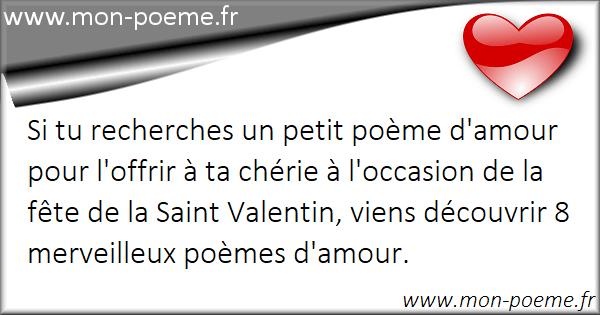 Petits Poèmes Saint Valentin 2019
