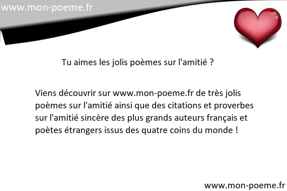 Poèmes Damitié Les Amis Et Amies