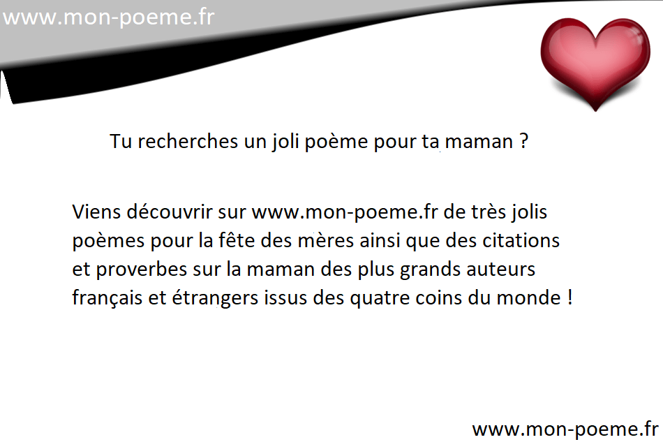 Poèmes Fête Des Mères 2018 Poèmes Maman