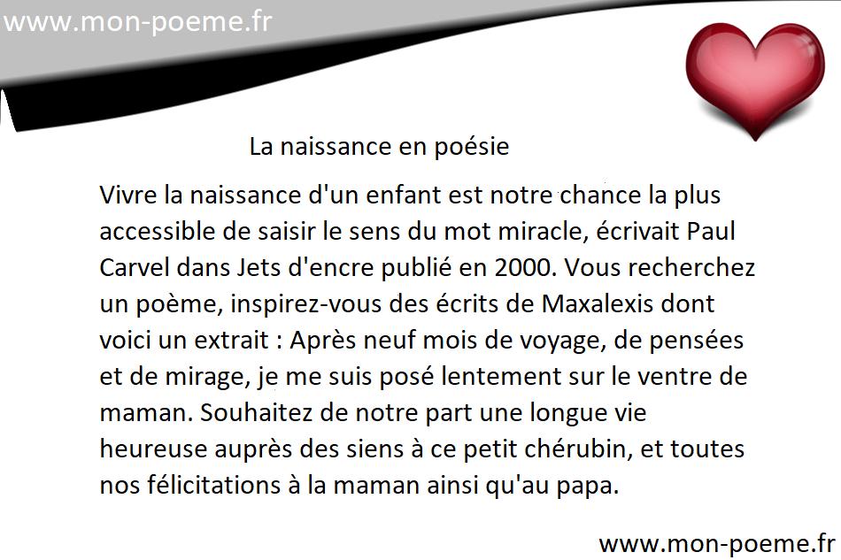 Poèmes Sur La Naissance Poésie Naissance
