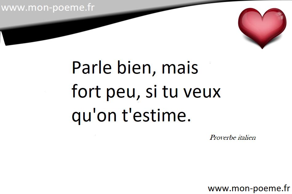 Connu Proverbes italiens avec leur traduction en français UT15