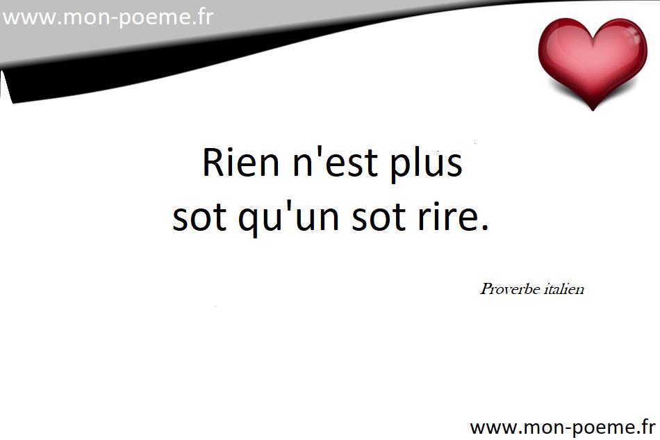 Extrêmement Proverbes italiens traduits en français HD59