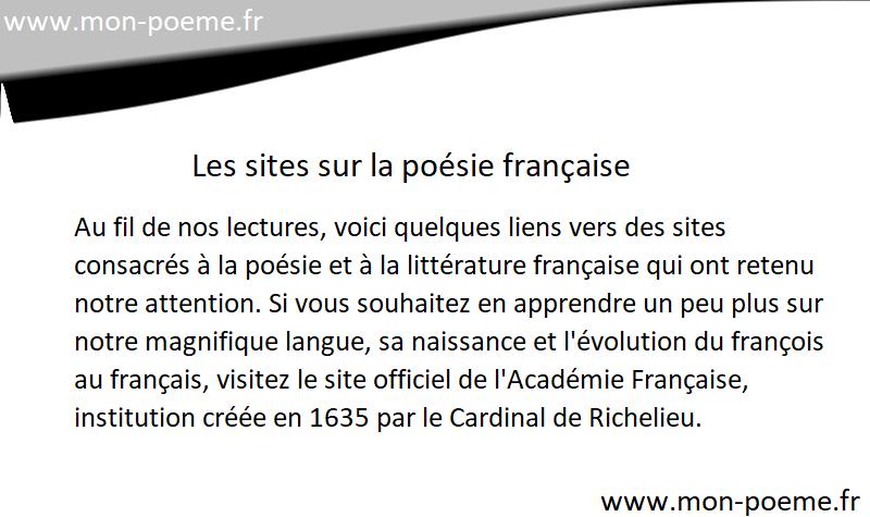 Les Sites De Poésie Française