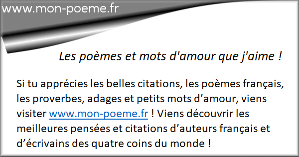 Mon Poeme Fr Amour Poesie Et Citations
