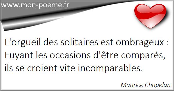 Citations Solitaire 56 Citations Sur Solitaire